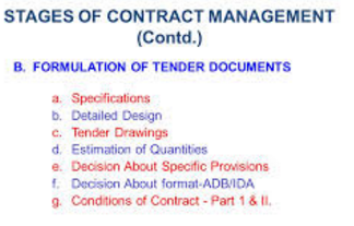 TENDER CONTRACT, OWNER ESTIMATE, AND RESOURCE MANAGEMENT